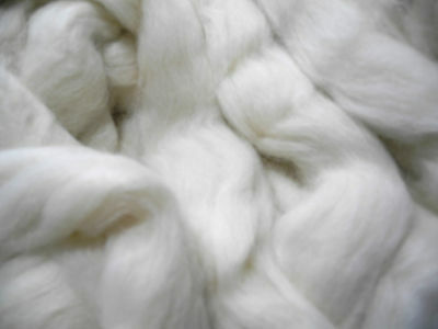 Undyed Superfine Alpaca Fiber Roving Top, 100 Grams or 3.52 Ounces, Spinning