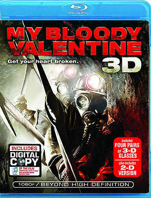 My Bloody Valentine 3D (Blu-ray Disc, 2009, 2-Disc Set, includes 3D glasses)