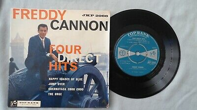 "Freddy Cannon 7""ep Four Direct Hits. Uk Top Rank 1960 Rock 'n' Roll"