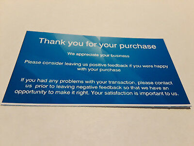 100 ebay Seller THANK YOU Business Cards 5 Five Star Feedback