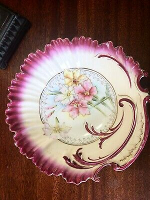Lovely Antique Whiteware Bowl Floral French Bavarian