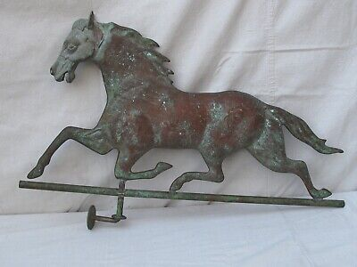 "Vintage  Copper Trotting Horse Weather Vane  33"" Mid 20 th c."