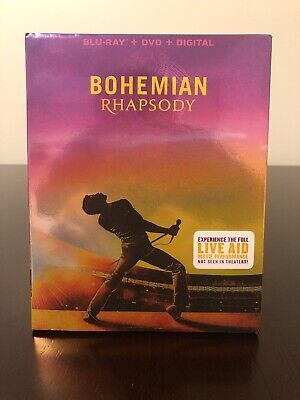 Bohemian Rhapsody-2018-Blu-Ray + DVD + Digital Copy - Live Aid - Like New