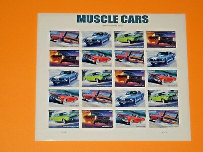 ~ New / MNH ~ 'Muscle Cars' ~ *2013 >  'Forever' x 20   U.S. Stamp Sheet ! ! ! ~