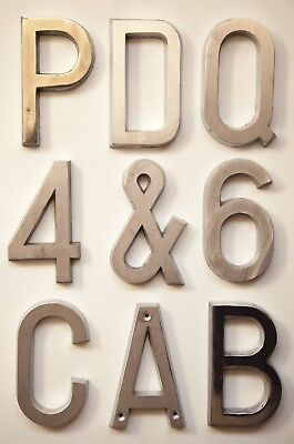 Letters 4 inch 100 mm solid cast Aluminium Brushed/Polished face (3 letters)