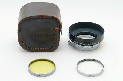 [Exc] Canon Lens hood and filter For 50mm f1.8 35mm f2.8 w/ Leather case #39