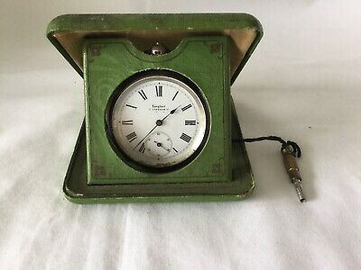 Early Langford Silver London Pocket Watch In Original Farrington Green Case