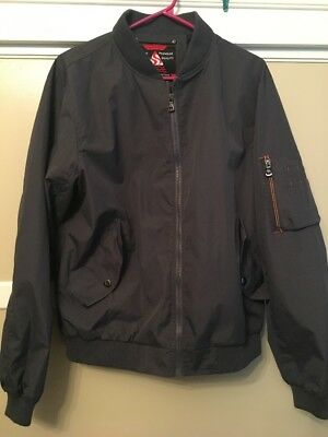 293e4889a SPIRE GALAXY MENS Bomber Jacket Size Small Black Water Resistant ...