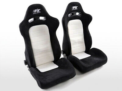 Sport Seats Chairs Chicago Fabric White Black VW Audi Seat Skoda