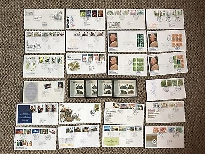 Job Lot Of 270+ First Day Cover/FDI & Commemorative Stamps 1960's-90's & Albums