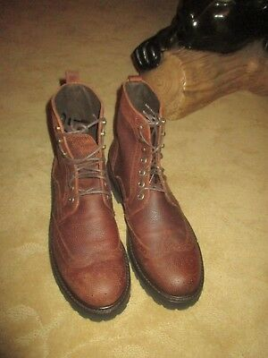 795252b1945 WOLVERINE REESE CAP Toe Lace Brown Boots Leather Sz 8.5, 9, 9.5 ...