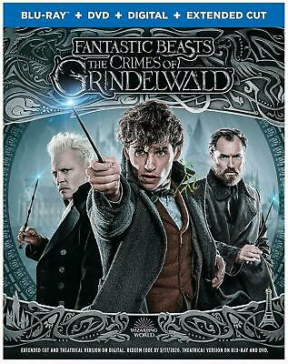 Fantastic Beasts The Crimes Of Grindelwald (Blu-Ray+DVD+Digital+Extended Cut NEW