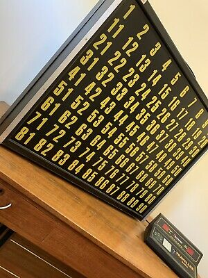 Vintage BSG Traveller 2000 Commercial Bingo Board & Caller DELIVERY AVAILABLE