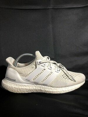 26d1c2eda9959 ADIDAS ULTRA BOOST 1.0 Triple White OG Mens Sz 9.5 USED -  12.00 ...