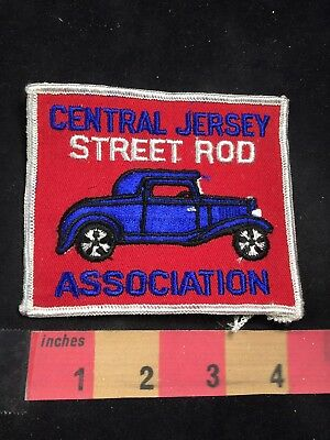 Vtg Hot Rod Auto CENTRAL JERSEY STREET ROD ASSOCIATION Car Race Patch 80NT