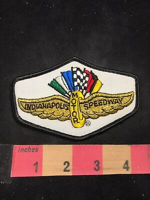 Vtg Indiana INDIANAPOLIS MOTOR SPEEDWAY Car Race Patch 80NT