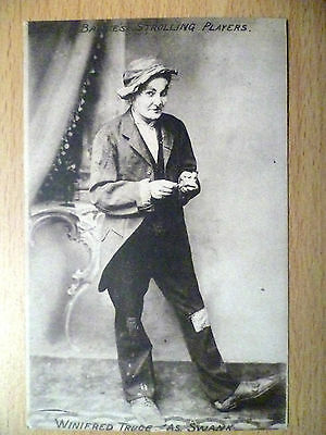 1911 Theatre Postcard- WINIFRED TRUCE as Swank (+Stamp