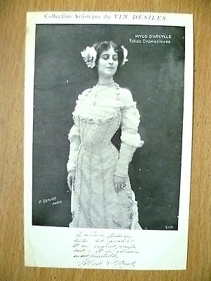 Postcards of Edwardian Theatre & Opera Stars- MYLO D'ARCYLLE FOLIES DRAMATIQUES