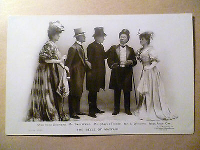 WW1 Theatre Postcard Irene/Sam/Charies/A.William & Alice-The Belle of Mayfair