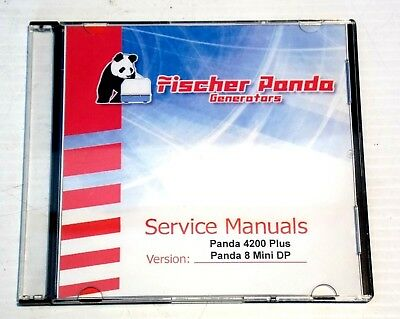 Fischer Panda 4200 Plus Panda 8 Mini DP Marine Generator Service Manual on CD