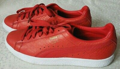 new styles 3beab f5b6a PUMA CLYDE DRESSED High Risk Red/Gold, Men's 11.5 Rare