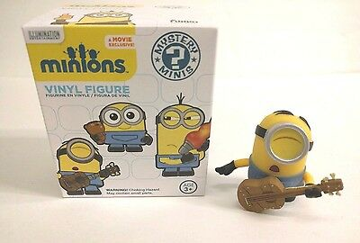 Funko Mystery Minis: Minions - Stuart with Guitar (VAULTED/RETIRED) Pop Vinyl