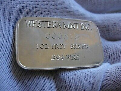 Rare western pacific (johnson matthey) 1 oz Vintage Old .999 silver bar low s/n