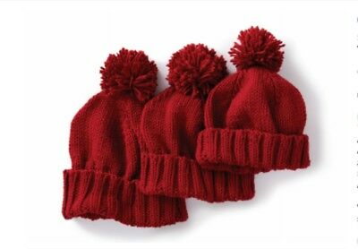 Knitting Pattern For Family Hats Age 2-4 / 8-10 & Adult
