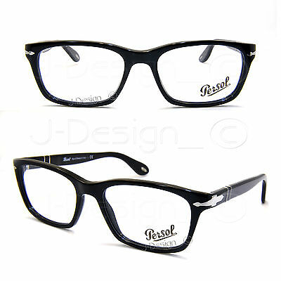 00757aac8b NEW PERSOL 3060-V 9012 Overnight Eyeglasses Authentic Frame Rx 54-17 ...