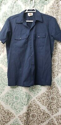 Dickies Mens Light Blue Short Sleeve Work Uniform Button Up Casual Shirt 1574 Clothing, Shoes & Accessories Shirts