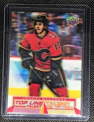 2018-19 UD Tim Hortons Hockey Johnny Gaudreau Top Line Talent SP Calgary Flames