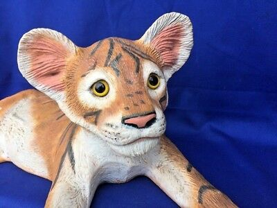 Bengal Siberian TIGER Realistic Statue Figurine LARGE 8/19 Ceramic BEAUTY ❤️J8