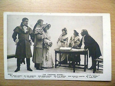 1905 Theatre Postcard:Finishing School-F.Cooper,B.Webster,A.Hughes,Broo(+Stamp)