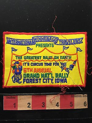 Vtg 1970s WIT Forest City Iowa Patch Grand National Rally Circus Tent Clown 68U9
