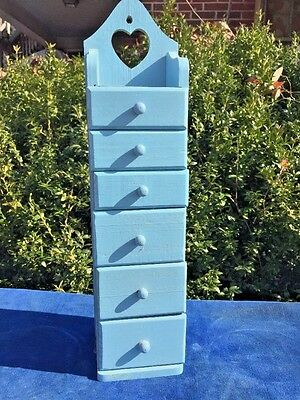 Antique FRENCH COVENTRY Provincial BLUE What Not Shelf Drawer Cabinet Cupboard