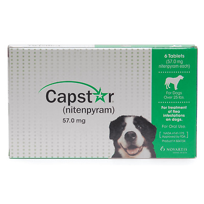 CAPSTAR Flea Treatment 6 tablets for Dogs over 25lbs For ORAL use  NEW
