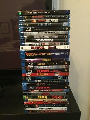 Transformers X-Men Spider-man Back To Future Town Jaws Inception MORE Bluray LOT