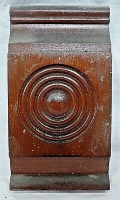 Antique Victorian Rosette / Plinth Block- C. 1895 Fir Architectural Salvage