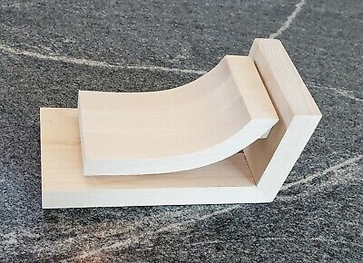 Contemporary Maple Wood Corbel Bracket- Ornamental- Sleek Profile