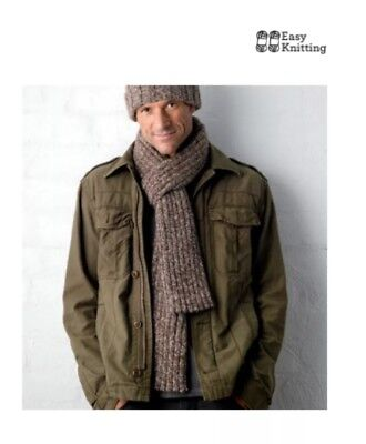 Knitting Pattern For Men's Ribbed Scarf