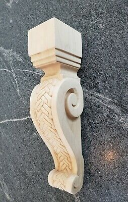Large Maple Wood Corbel Bracket- Ornamental Braid Pattern