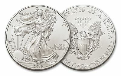 2016  Silver American Eagle 1 ounce BU Dollar .999 pure