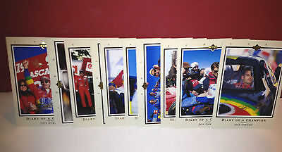 Jeff Gordon 1996 Upper Deck DIARY OF A CHAMPION Complete 10 Card Set