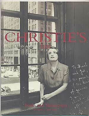 Christie's East Books and Manuscripts Monday 22 May 2000 / First Edition