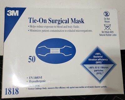 Tie-on Surgical Box 1818 Exp-2022 Mask 50 3m Of