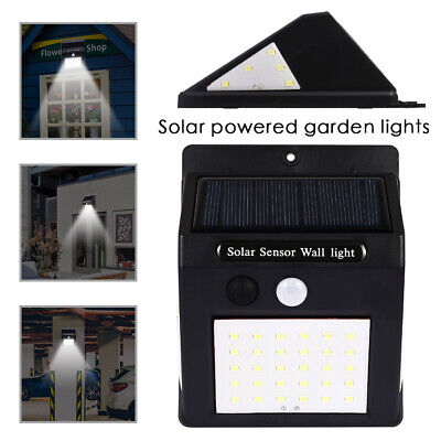 40 LED Solar Powered PIR Motion Sensor Light Outdoor Garden Security Wall Lights