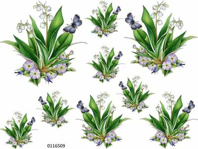 LiLY oF ThE VaLLeY PaNsieS & BuTTeRFLieS ShaBby WaTerSLiDe DeCALs