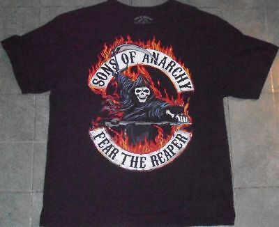 SONS OF ANARCHY color Fear The Reaper motorcycle biker TV television shirt