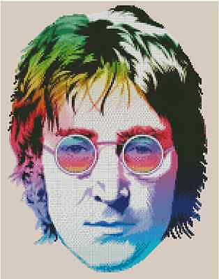 The Beatles John Lennon Counted Cross Stitch COMPLETE KIT #51-103