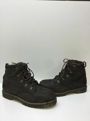 bcad42e7806 DR. MARTENS INDUSTRIAL HOLKHAM NS Brown Leather Lace Up Boots Men's Size 13  M